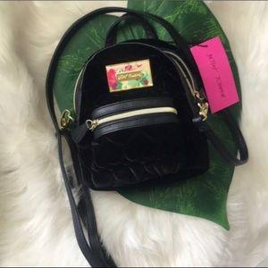 NWT Velvet Quilted ❤️ Betsey Johnson Mini Backpack
